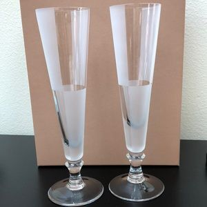 2 Nautica champagne flute glasses, NEW w/out tags